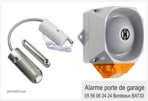 Alarme garage for Detecteur porte de garage