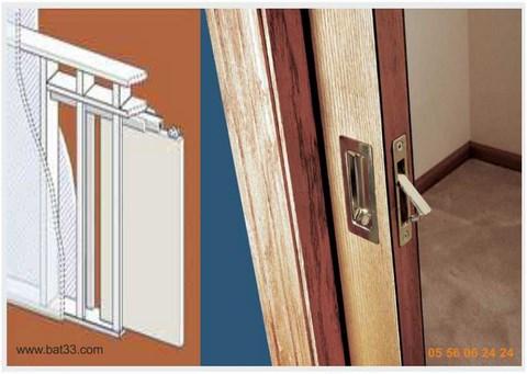 Portes galandage bordeaux for Installer porte galandage