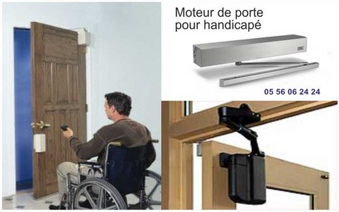 Porte pour handicap bordeaux installation gironde for Porte handicape