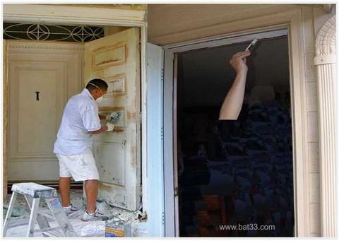 peintre porte immeuble coch re bordeaux. Black Bedroom Furniture Sets. Home Design Ideas